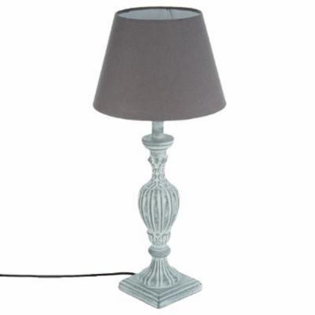 LAMPE BOIS PATINE GRIS