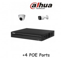 PACK 8 :  2  CAMERAS  IP  DAHUA  1 MP