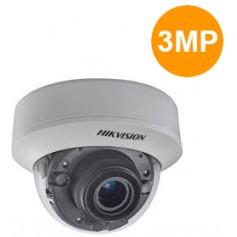 Hikvision. Camèra dôme IR30m, Analog HD 3MP VF motorisé 2.8-12mm