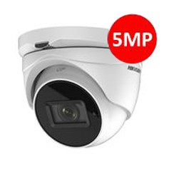 Hikvision. Camèra dôme IR40m, Analog HD 5MP VF motorisé 2.8-12mm-