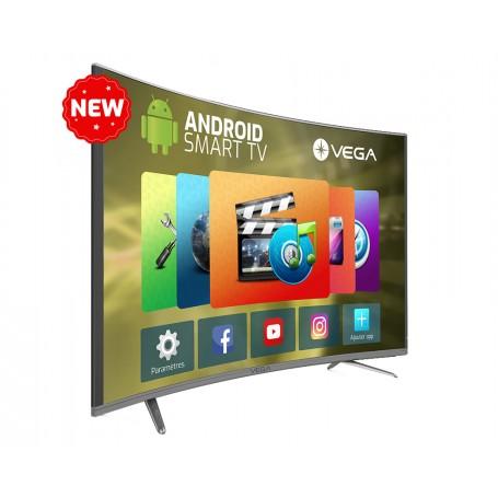 "Téléviseur MAXWELL-VEGA 50"" UHD LED 4K Smart Flat Gold"