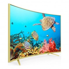 "Smart TV MAXWELL LED 55"" Curved 4K / Wifi / Android / Gold"