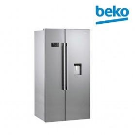 Réfrigérateur Side By Side Beko 630L - silver