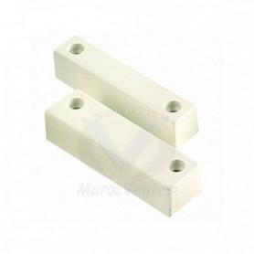 Contact saillie en plastique BLANC (Pack de 5)
