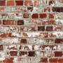 papier peint brique rouge