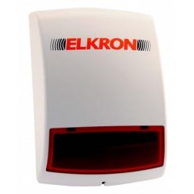 Sirène extérieure sans fil à flash ELKRON