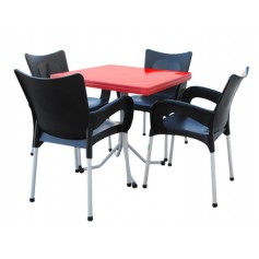 ENSEMBLE DAMAS (TABLE DAMAS+04 CHAISES CALYPSO)